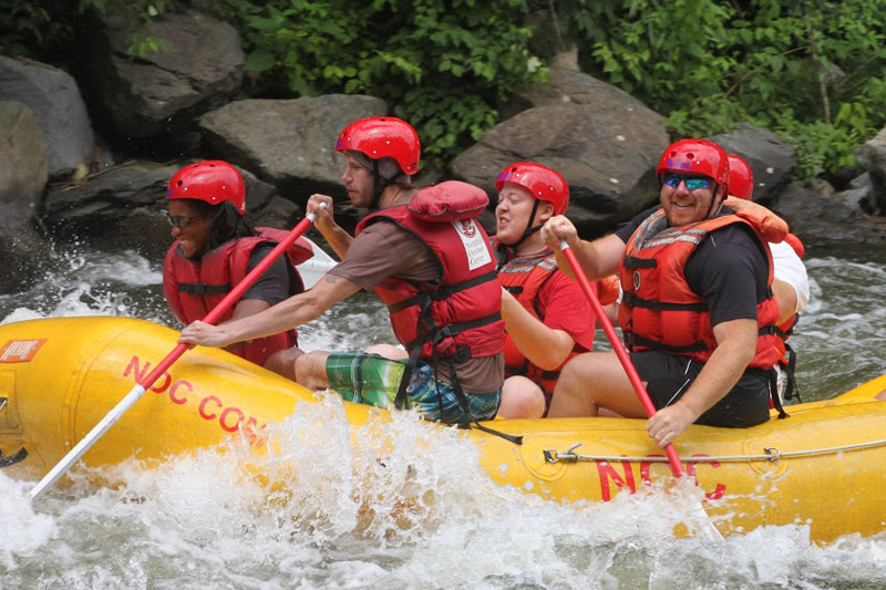 The Sweet Pea Kennels Team - Sometimes when we are not running the Jackson, Mo Boarding, daycare, grooming and training business we can be found whitewater rafting in Americas wild and scenic rivers.